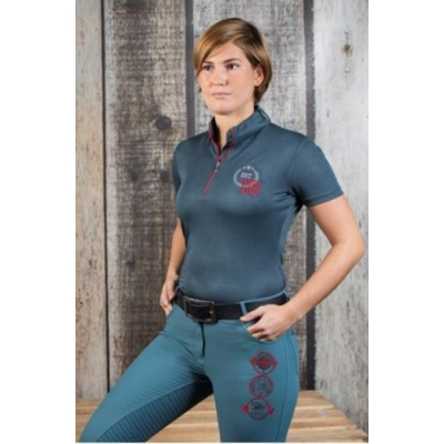 Wedstrijdshirt Shirt Equestrian Society Orion Blue